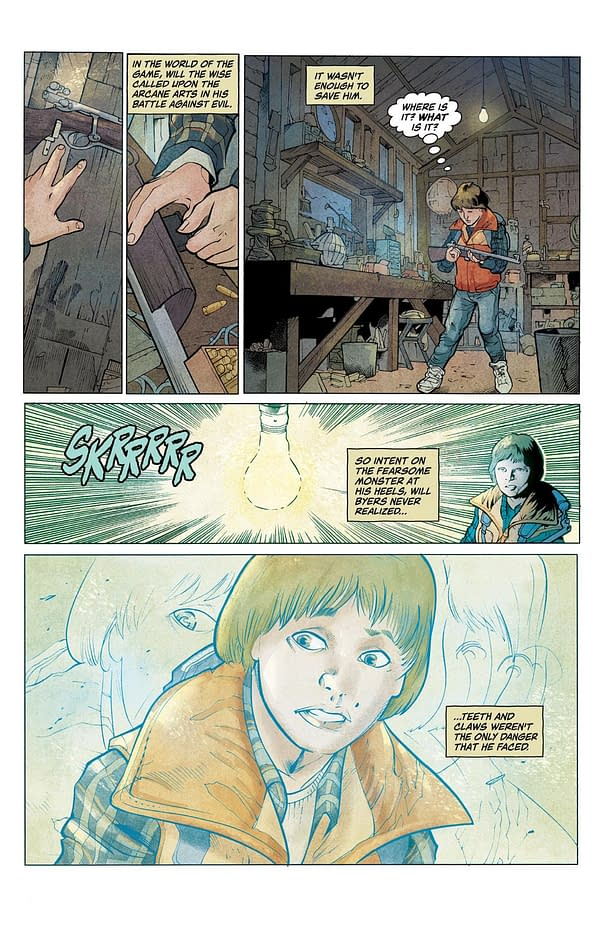 Will Byers Vs Demogorgon For the First Time – 9-Page Preview Of Stranger Things #1