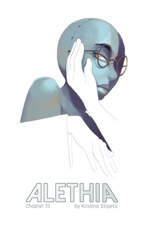 The cover of Alethia #13; the creative team is Kristina Stipetic and it is independently published.