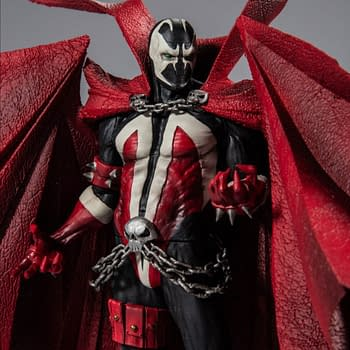 The remastered Spawn action figure featured in Todd McFarlane's new Kickstarter.