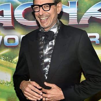 Jeff Goldblum Hosts the Avengers: Infinity War Press Day Press Conference