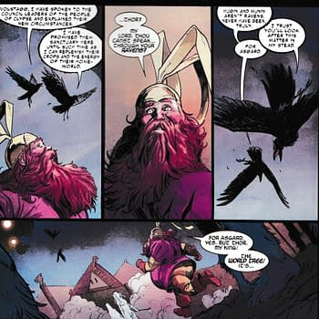 Thor Gets a Brand New Super-Power in Thor #2 &#8211 Long Distance Raven Ventriloquy