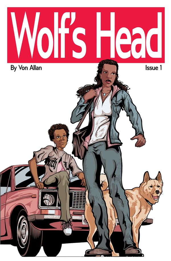 The cover to Wolf's Head #1 by Von Allan.