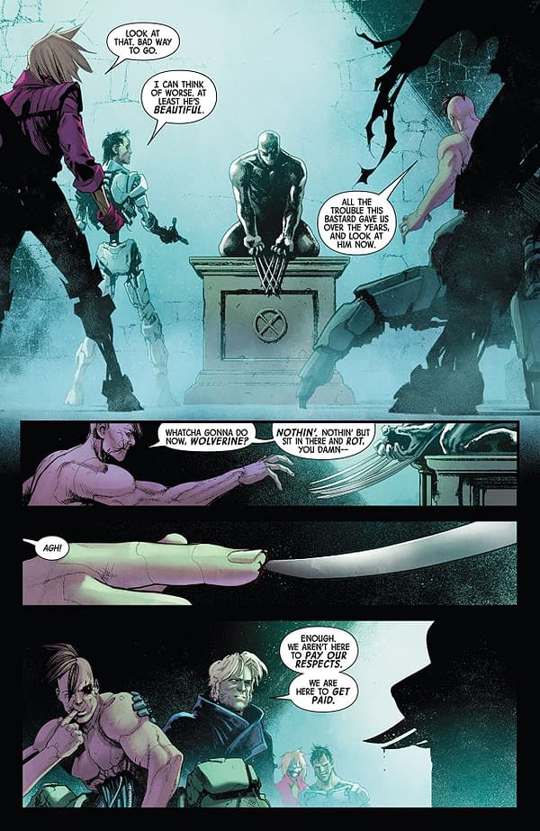 Hunt for Wolverine #1 art by David Marquez and Rachelle Rosenberg