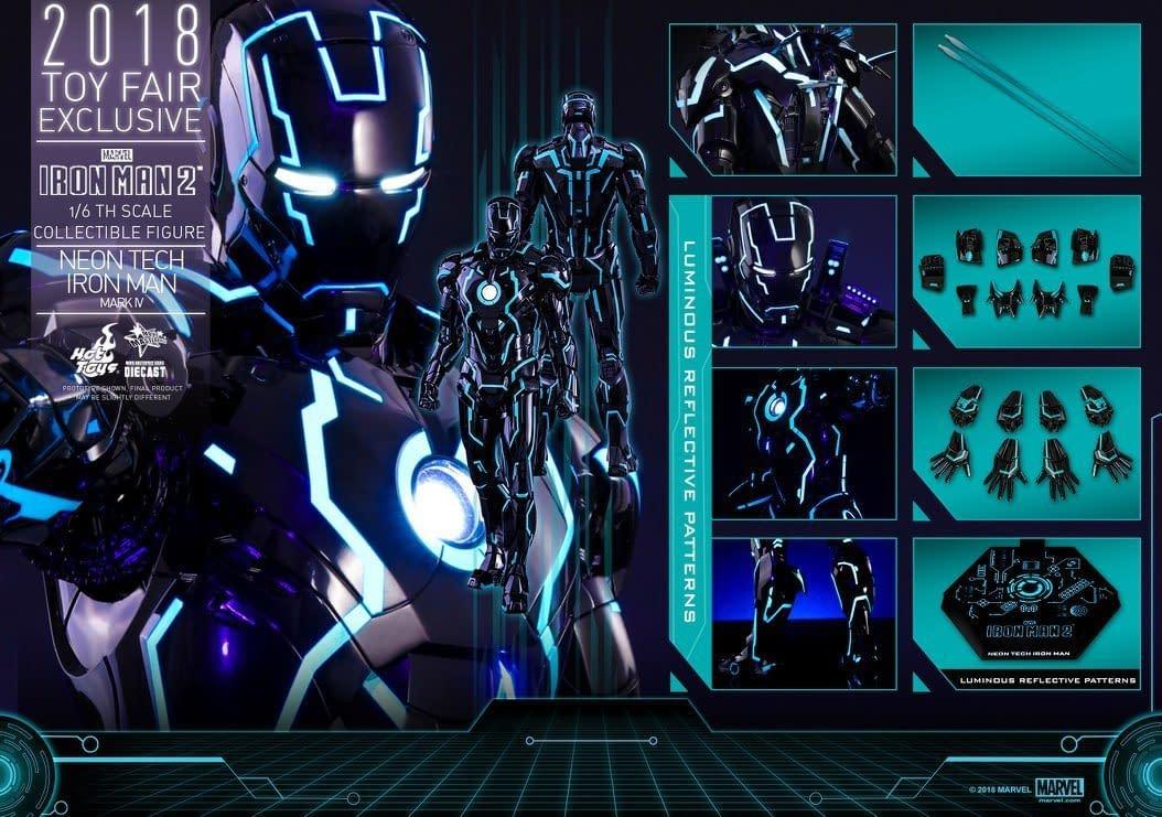Hot Toys Neon Armor Tech Iron Man 14
