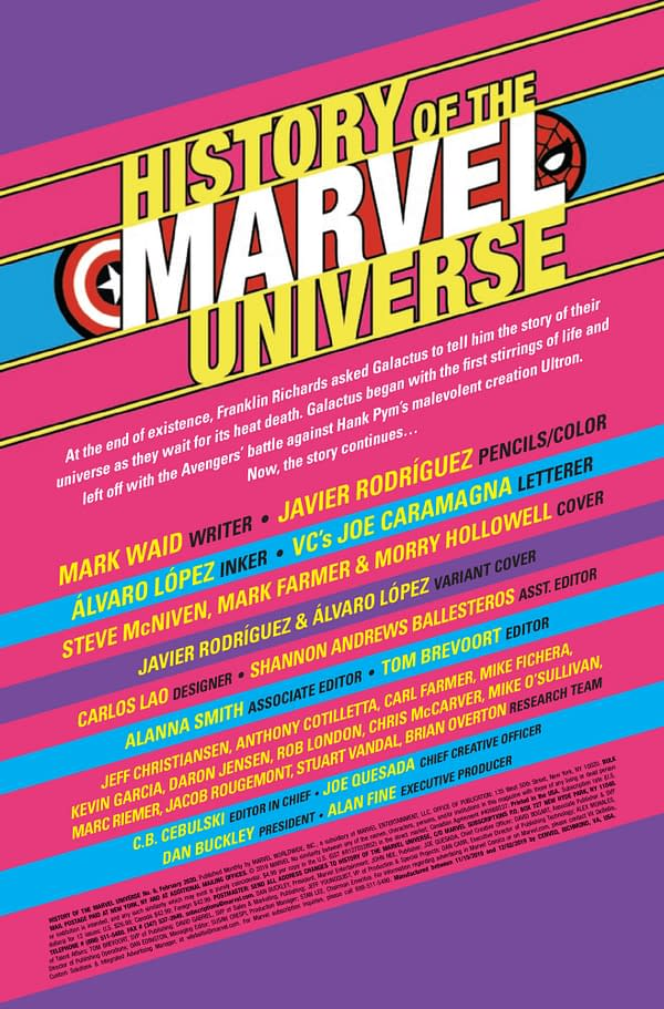 History of the Marvel Universe #6 [Preview]
