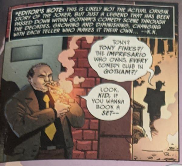 That New DC Comics Origin For The Joker in Walmart Batman Giant #5.