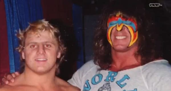 Owen Hart and The Ultimate Warrior from Dark Side of the Ring, courtesy of Vice TV.