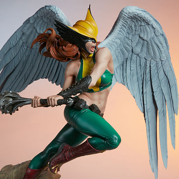Hawkgirl Flies High with New Statue from Sideshow Collectibles