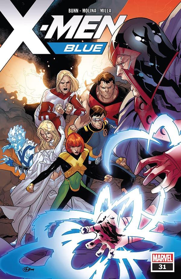 X-Men: Blue #31 cover by R.B. Silva and Rain Beredo