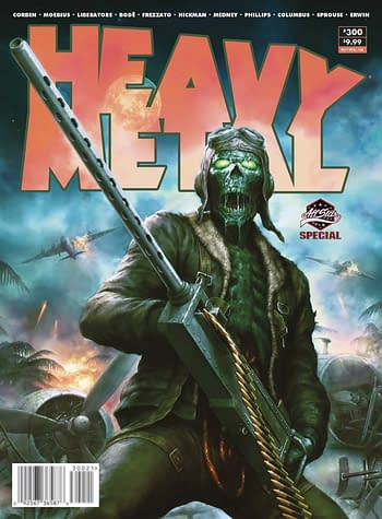 Jonathan Hickman, Simon Bisley, Dan Fogler in Heavy Metal August 2020.