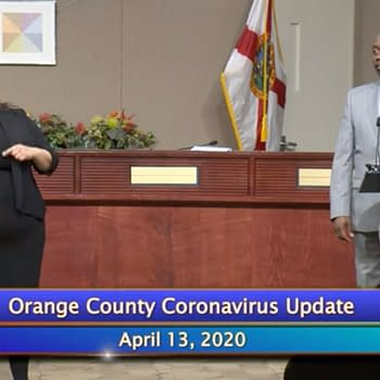 Orange County Mayor Jerry Demings speaks about the WWE, courtesy of Orange County.