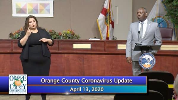 Orange County Mayor Jerry Demmings addresses WWE's essential business status, courtesy of Orange County.