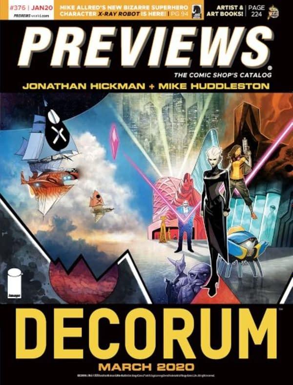 Jonathan Hickman and Mike Huddleston's New Image Comic,Decorum, on Front of Next Week's Diamond Previews