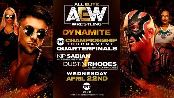 Dustin Rhodes mettra sa carrière en jeu contre Kip Sabian lors du tournoi titre TNT sur AEW Dynamite la semaine prochaine.