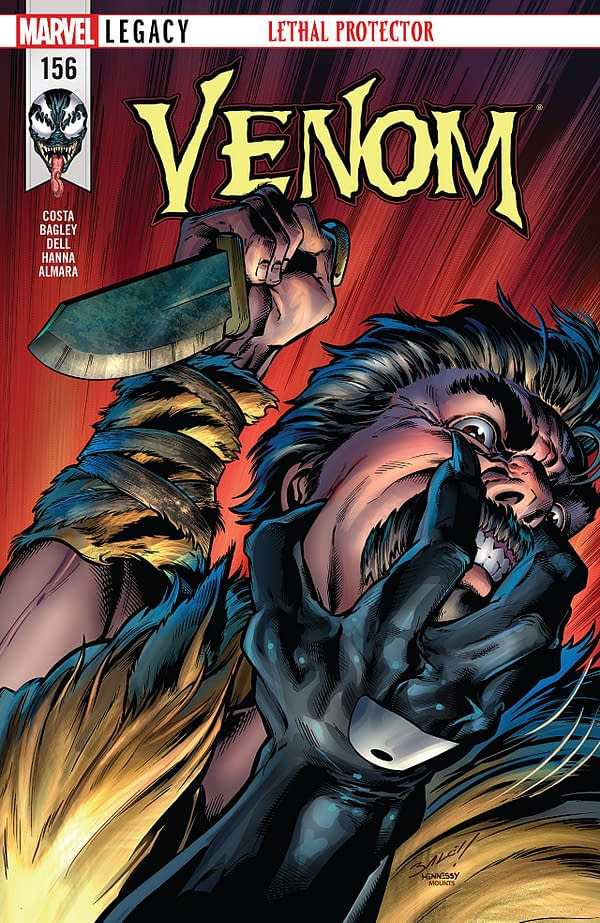 Venom #156 cover by Mark Bagley, Andrew Hennessy, and Paul Mounts
