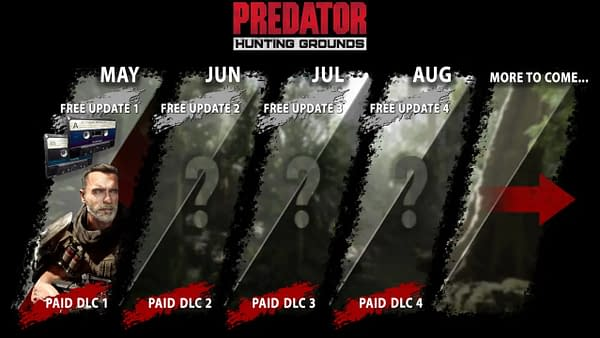 More DLC contenti is on the way in Predator: Hunting Grounds, courtesy of IllFonic.