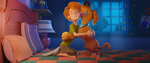 Copyright: © 2019 WARNER BROS. ENTERTAINMENT INC. Photo Credit: Courtesy of Warner Bros. Pictures Caption: (L-r) Young Shaggy and young Scooby-Doo in the new animated adventure
