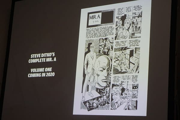 IDW Artist's Edition SDCC 2019 Panel, oh and Steve Ditko