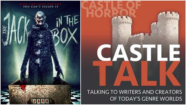 The poster for The Jack in the Box. The logo for the Castle Talk podcast and used with permission.