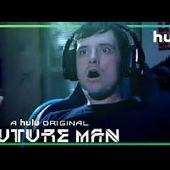 Josh's life changes forever on Future Man, courtesy of Hulu.