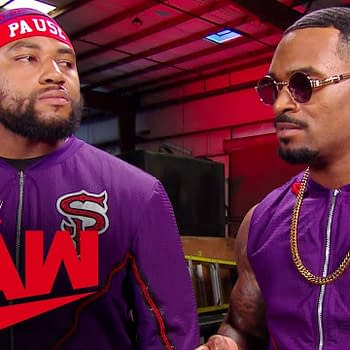 The Street Profits challenge The Viking Raiders for Raw, courtesy of WWE.