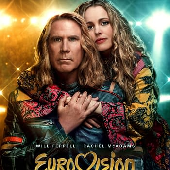The official poster for Eurovision Song Contest: The Story of Fire Saga. Credit: Netflix