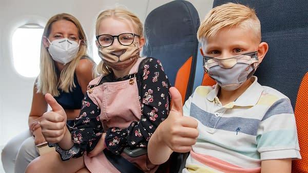 Will Sliney Creates Kid Face Masks for EasyJet Flights.