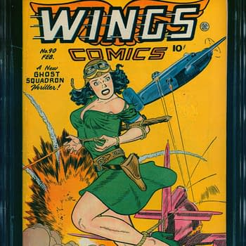 High Flying Action Can be Yours; Wings Comics #90 from ComicConnect!