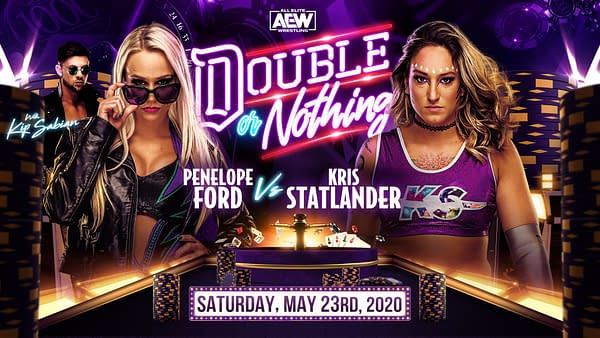 AEW Double Or Nothing Results: Penelope Ford Vs Kris Statlander, courtesy of AEW.
