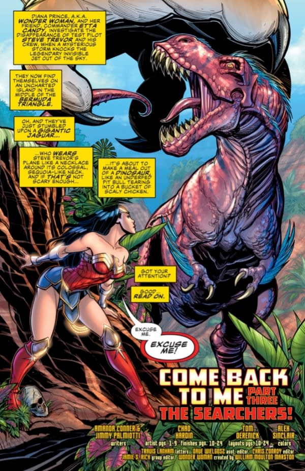 3 Pages From Teen Titans #33 and 2 From Wonder Woman: Come Back to Me #2 [Preview]