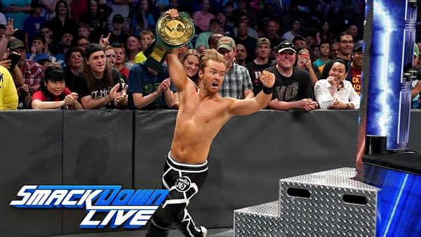 Drake Maverick wins the 24/7 Championship from Elias, courtesy of WWE.