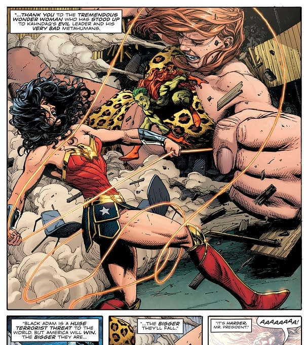 President Trump Talk Wonder Woman in Doomsday Clock #11
