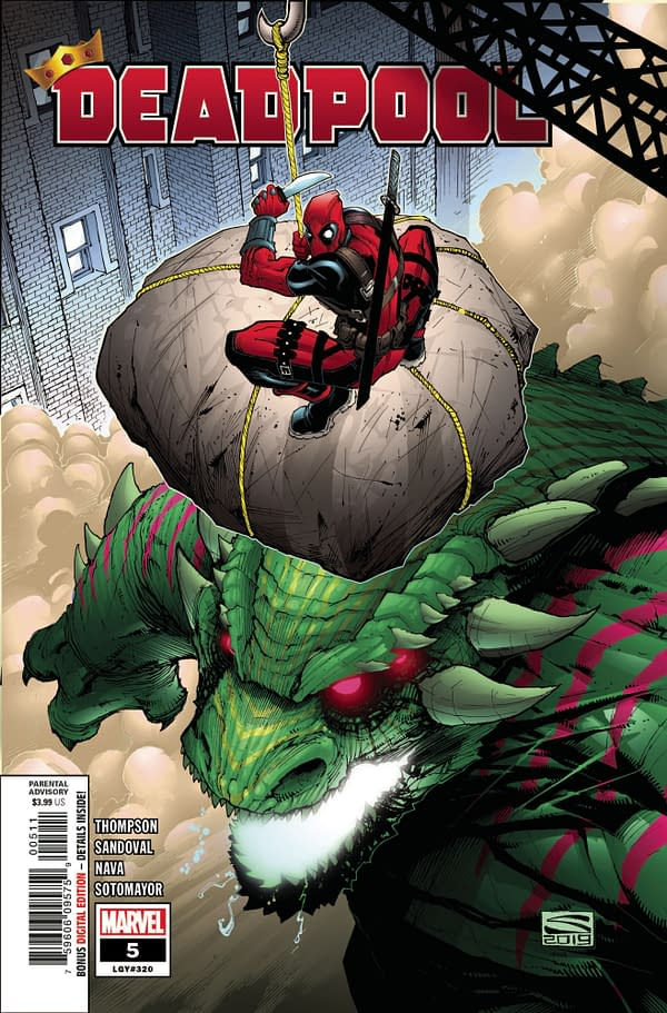 The cover to Deadpool #5