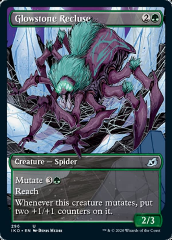 Glowstone Recluse, a new card from the Ikoria: Lair of Behemoths set for Magic: The Gathering.