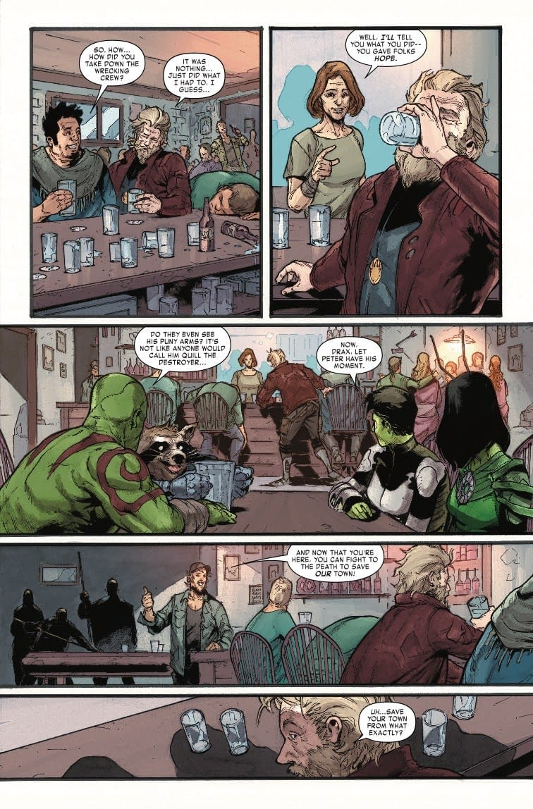 Drunk Super Heroing in Old Man Quill #3