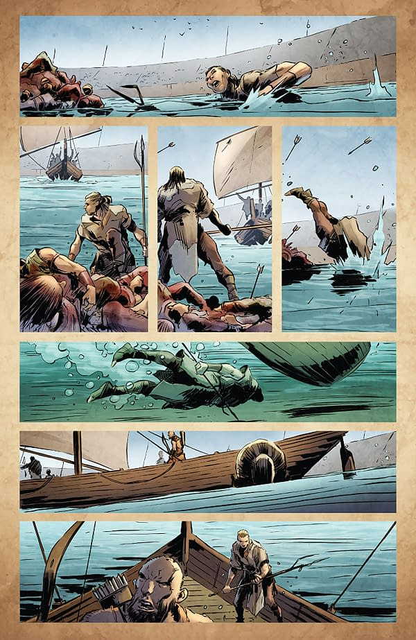 X-O Manowar #18 art by Trevor Hairsine and Diego Rodriguez