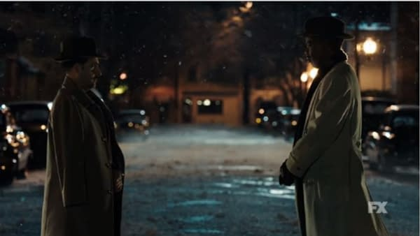 Two families meet to keep the peace on Fargo, courtesy of FX Networks.