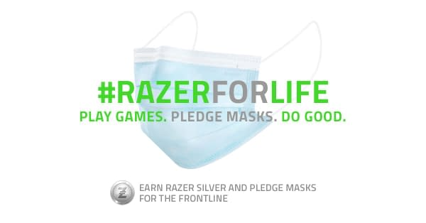 The Razer For Life campaign will provide face masks just for playing games.