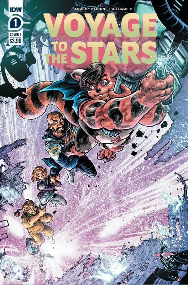 The cover of Voyage to the Stars #1 (of 5) published by IDW Publishing.