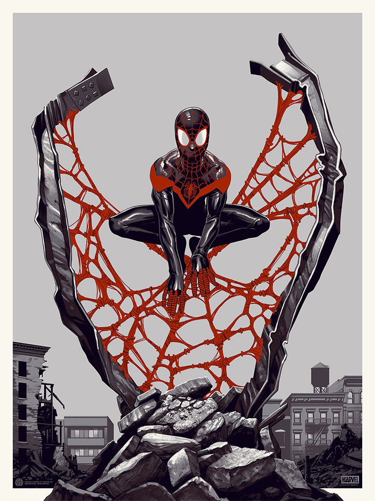 Spider Man MIles Morales Spider-Verse Poster 1