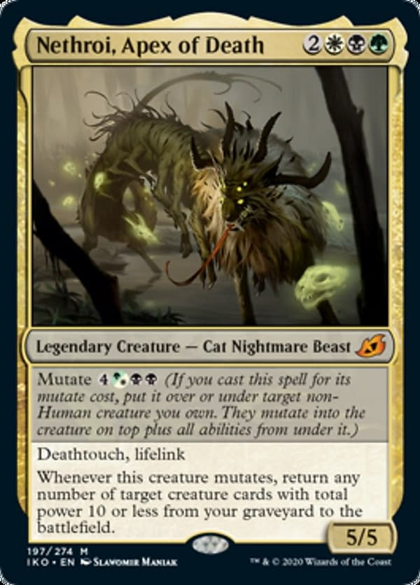 Nethroi, Apex of Death, a card from the Ikoria: Lair of Behemoths set for Magic: The Gathering.