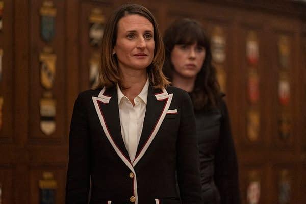 Camille Cottin as Helene, Alexandra Roach as Rhian- Killing Eve _ Season 3, Episode 7 - Photo Credit: Laura Radford/BBCAmerica/Sid Gentle