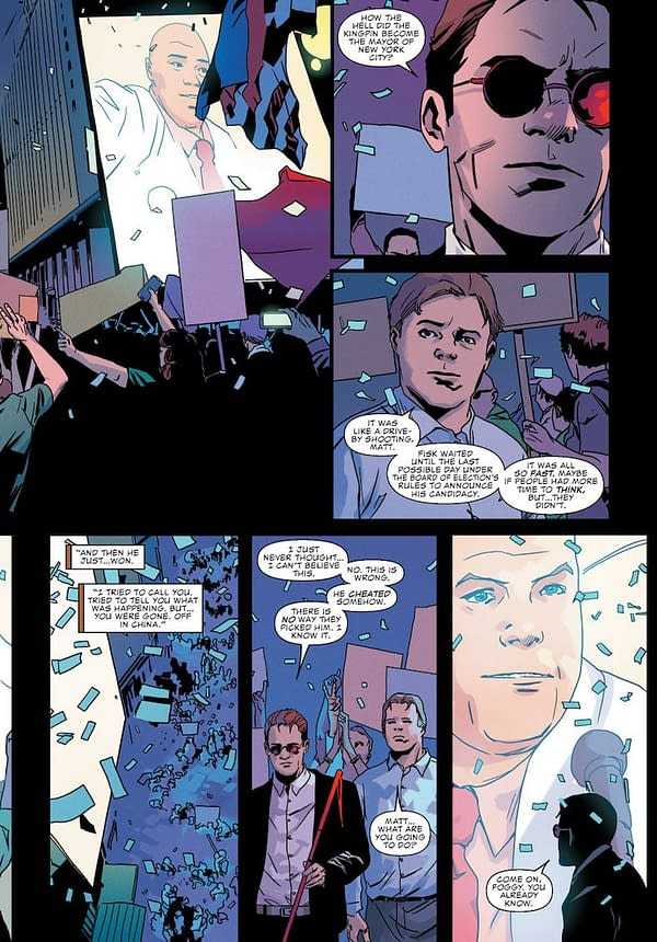 Daredevil #595 art by Stefano Landini and Matt Milla