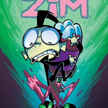 Invader Zim #30 cover by Maddie C. and Fred C. Stresing