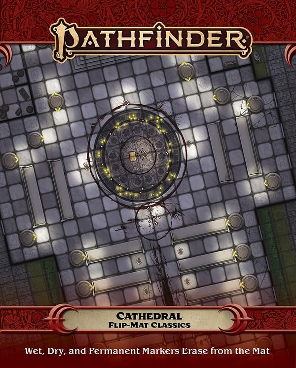 The Cathedral flip mat for use in Paizo's Pathfinder role-playing game.