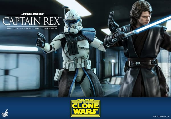 Star Wars The Clone Wars Captain Rex Figure from Hot Toys