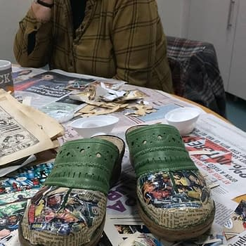 BBC Filming 'The Thrifty Wear Comic Books' After Amber Rudd Pops By