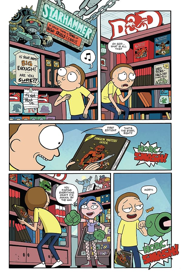 Rick and Morty vs Dungeons & Dragons #1 art by Troy Little and Leonardo Ito