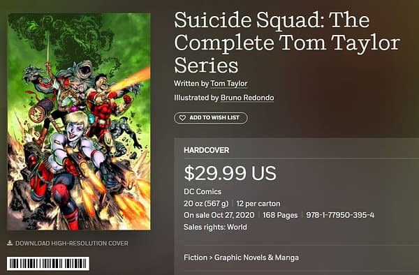 Tom Taylor and Bruno Redondo's Suicide Squad Cancelled With #6? Is This 5G As Well?