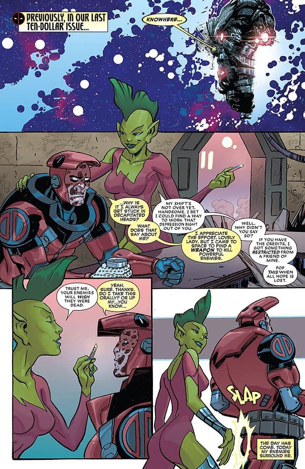 The Despicable Deadpool #300 art by Scott Koblish and Nick Falardi